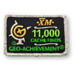 11000 Finds Geo-Achievement Patch